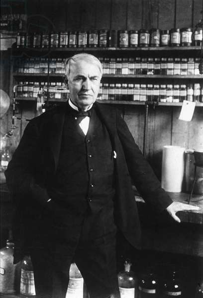 THOMAS EDISON (1847-1931) American inventor, in 1877