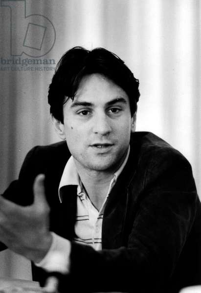Robert De Niro during a press interview in Los Angeles on October 1976 for film Taxi Driver
