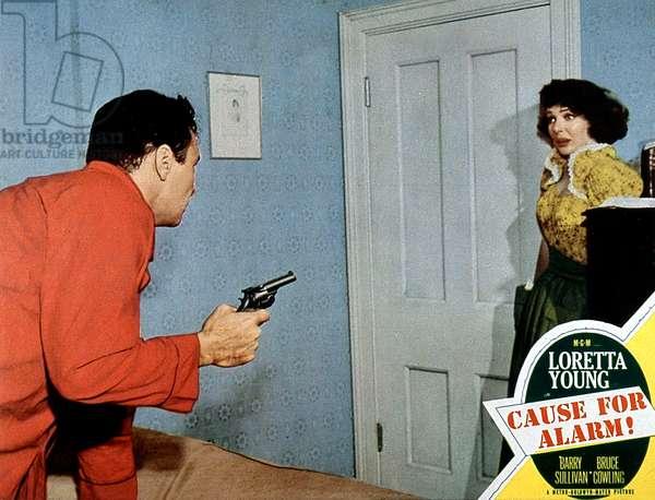 Cause for alarm de TayGarnett avec Loretta Young et Barry Sullivan 1951