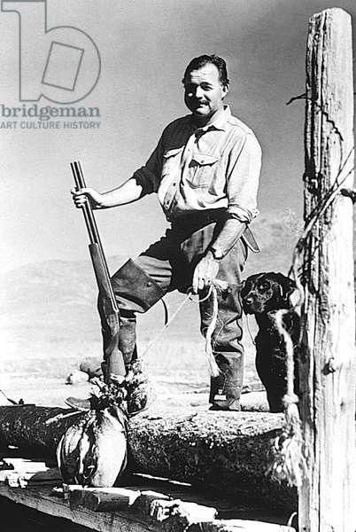 writer Ernest Hemingway in Idaho, 1939