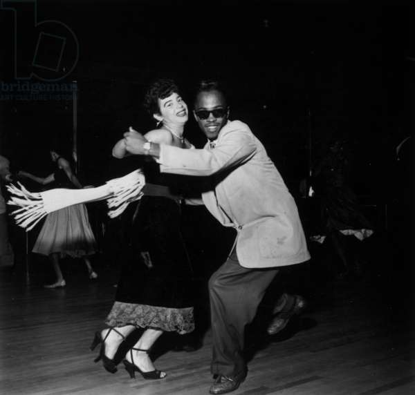 Dance in the Savoy Ballroom in Harlem, New York, 1947 (b/w photo)