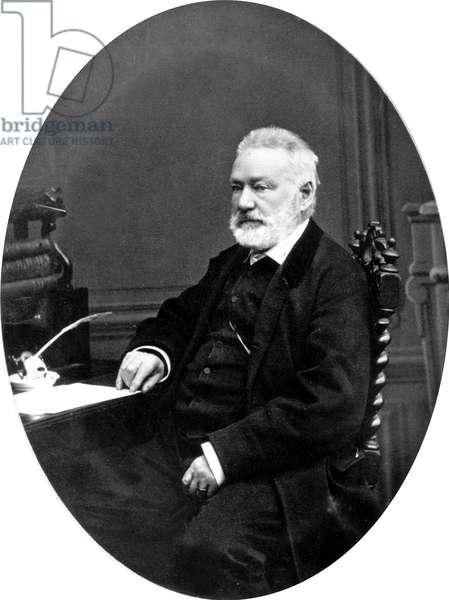 Victor Hugo (1802-1885) French poet and novelist c. 1865