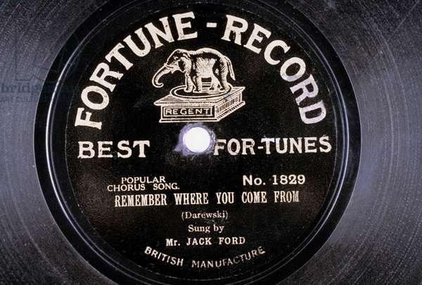 Disque Vinyl : Remember where you come from (Darewski) chante par Mr Jack Ford NÁ1829 fortune Record
