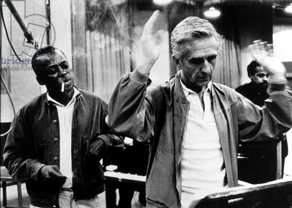 trumpet player Miles Davis and pianist Gil Evans in 1959