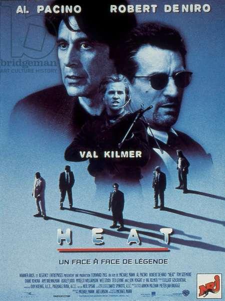 Affiche du film Heat de MichaelMann avec Robert de Niro Al Pacino et Val Kilmer 1995