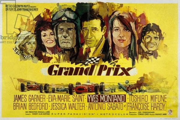 Affiche du film Grand Prix de JohnFrankenheimer avec Yves Montand 1966