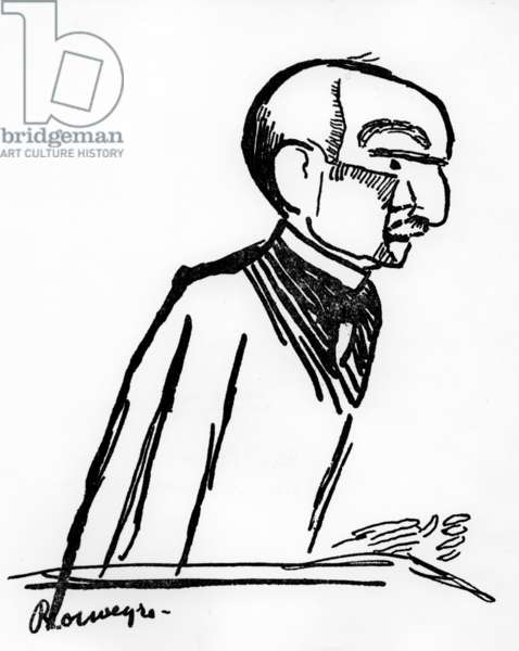 Henri Bergson (1859-1941) French philosopher, drawing by Andre Rouveyre, 1903