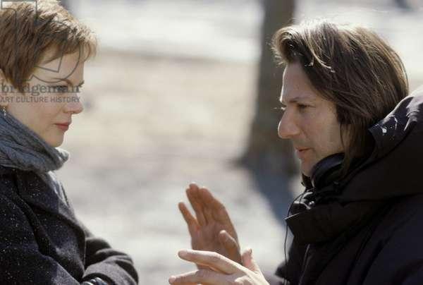 Nicole Kidman and director Jonathan Glazer on set of the film BIRTH, 2004