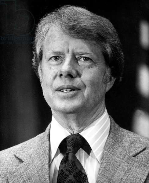 Jimmy Carter, American President, during meeting of IMF (International Monetary Fund) in Washington September 26, 1977