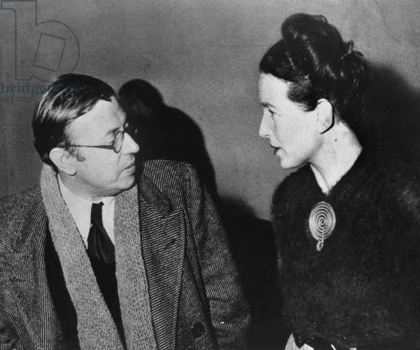 Jean Paul Sartre and Simone de Beauvoir c.1945
