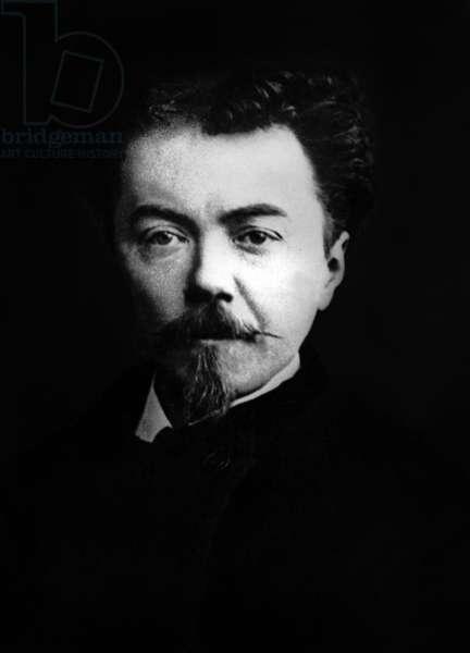 Auguste de Villiers de L'Isle Adam (1838-1889) French writer, photo by Nadar