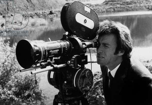 Clint Eastwood on set of film BREEZY in 1973