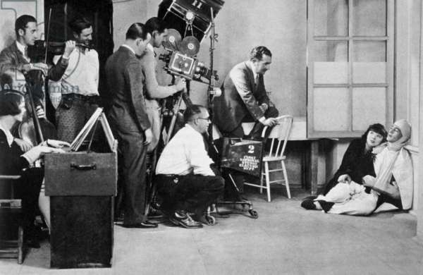 Shooting of GeorgesFitzMaurice's film Ciel de gloire (Lilac Time) starring gary Cooper and Coleen Moore 1928