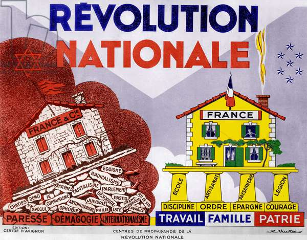 Propaganda Poster for the 'Vichy System' in France, 1940-42 (colour litho)