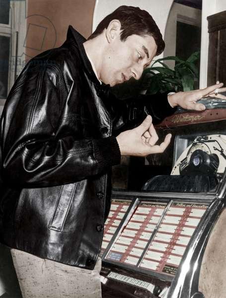 Serge Gainsbourg Near A Wurlitzer Juke Box October 14, 1959 (photo)