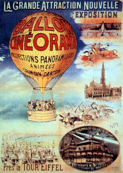 Poster The great attraction new l exhibition Near the Eiffel Tower Ballon cineorma