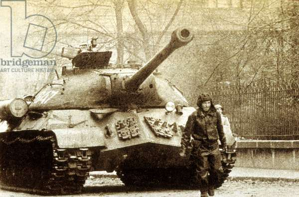 Russian tank during the Prague Spring.