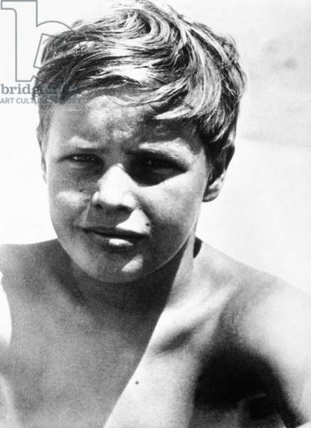 Marlon Brando when child, c. 1932