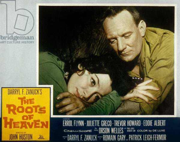 Les Racines du Ciel THE ROOTS OF HEAVEN de JohnHuston avec Juliette Greco et Trevor Howard 1958 (d'apres Romain Gary, aka Emile Ajar)