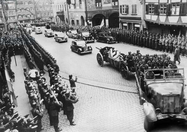 funeral of marshall Erwin Rommel in Germany October 18, 1944
