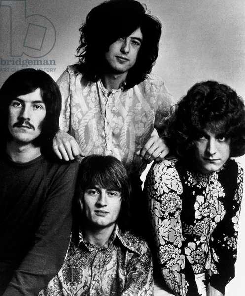 Led Zeppelin, 1969 (b/w photo)