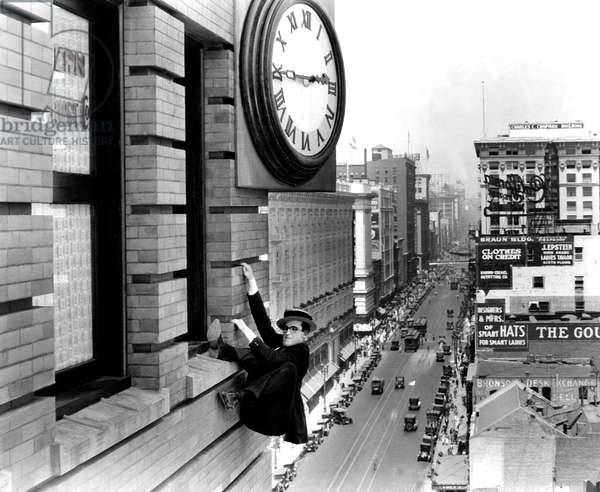 Harold Lloyd in 'Safety Last!', 1923 (film-still)