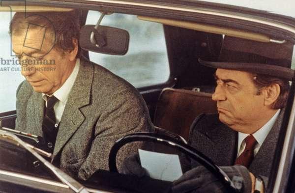 Yves Montand et Francois Perier dans le film Police Python 357 de AlainCorneau 1976