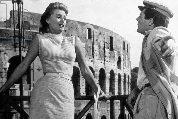 Dommage que tu soit une canaille TOO BAD SHE'S BAD de AlessandroBlasetti avec Marcello Mastroianni, Sophia Loren, 1954
