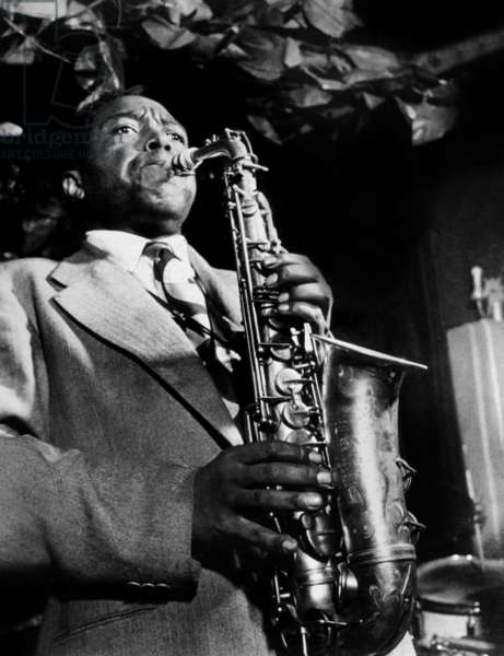 American saxophonist and jazz composer Charlie Parker (1920-1955) c. 1950