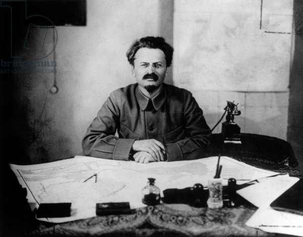 Leo Trotski (1879-1940) soviet politician, in 1917