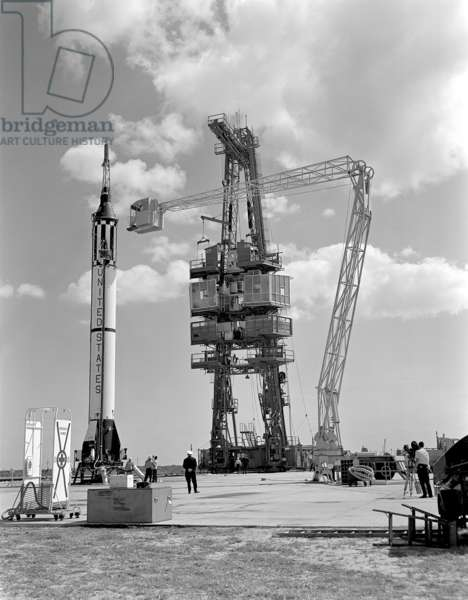 Mercury-Redstone 3 (MR-3) Prelaunch Activities on the Mercury 5 launch pad April 21, 1961