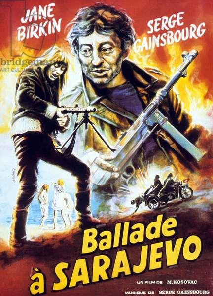 Affiche du film Ballade a Sarajevo (19 djevojaka i Mornar) de MilanKosovac avec Serge Gainsbourg et Jane Birkin 1971
