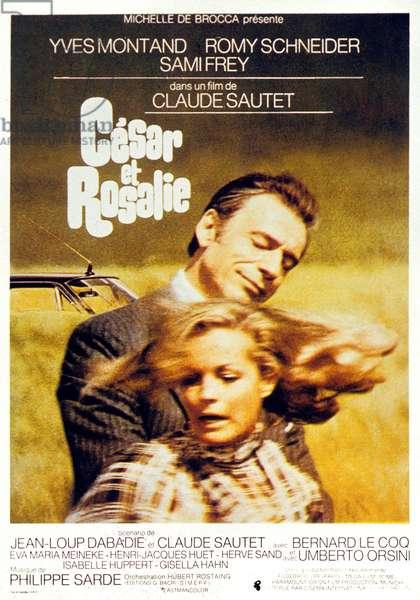 Cesar et Rosalie de ClaudeSautet avec Yves Montand Samy Frey et Romy Schneider 1972