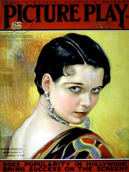 Louise Brooks (1906-1985) on cover of magazine Picture Play August 1927