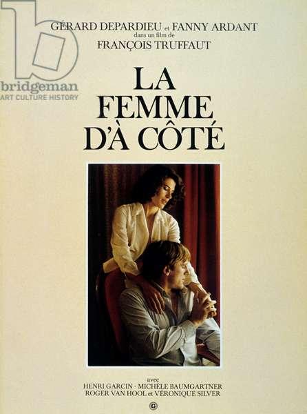 La Femme d'a cote WOMAN NEXT DOOR de FrancoisTruffaut avec Fanny Ardant et Gerard Depardieu 1981