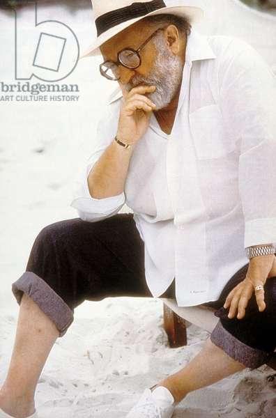 Le realisateur Sergio Leone en 1984
