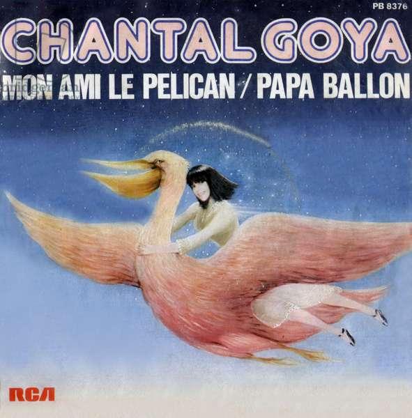 "Chantal Goya 1979 ""Mon ami le pelican"" and ""Papa balloon"" vinyl record pouch"