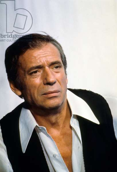 French Actor Yves Montand (1921-1991) during rehearsal for tvshow October 27, 1973