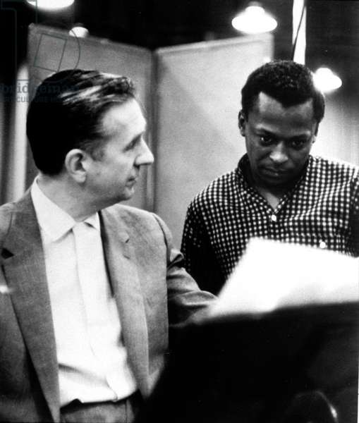 trumpet player Miles Davis and pianist Gil Evans in 1957