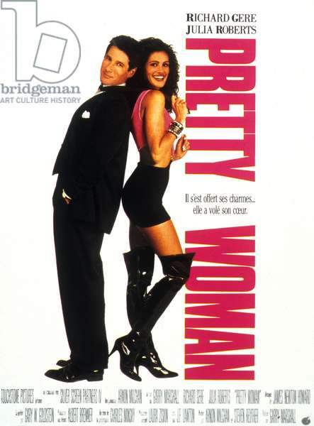 Garry Marshal's Pretty Woman Movie Poster with Richard Gere and Julia Roberts 1990