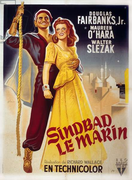 Sinbad le marin Sinbad the Sailor de Richard Wallace avec Douglas Fairbanks Jr et Maureen O'Hara 1947