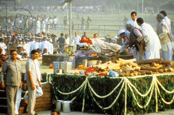 funeral of Indira Gandhi November 3, 1984
