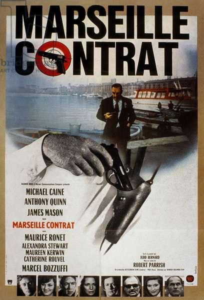Marseille contrat The Marseille Contract de Robert Parrish avec Michael Caine et Anthony Quinn 1974