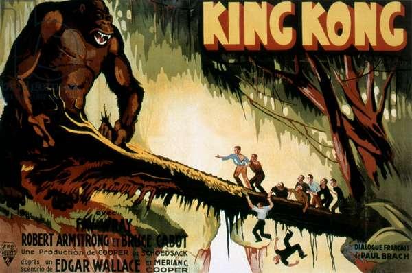 Affiche du film King  KONG de MerianCooper et ErnestSchoedsack 1933