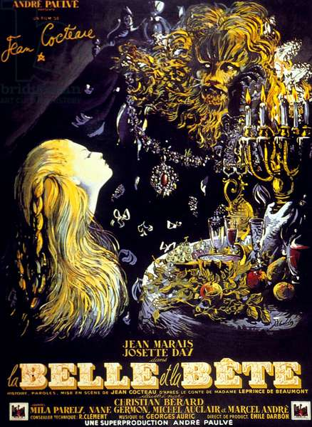Poster for The Beauty and the Beast, 1946 (couleur litho)