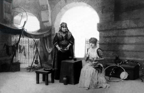 Marie Laurent as Tamyris and Sarah Bernhardt (1844-1923) as Theodora in play Theodora by VictorienSardou, 1885 Photo Nadar