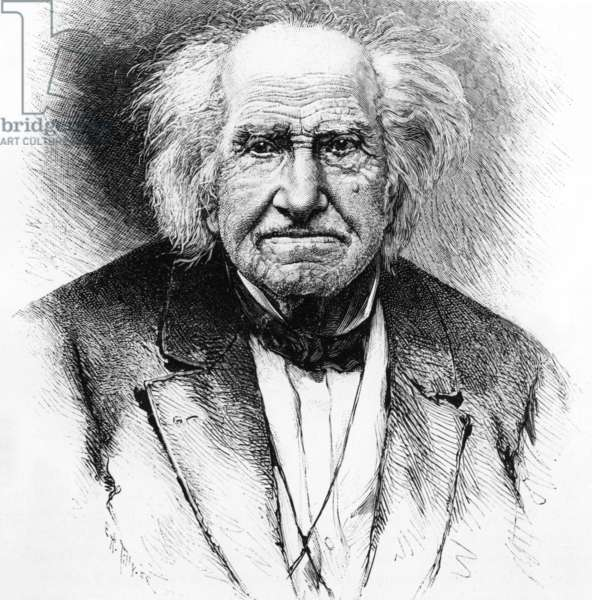 Michel Eugene Chevreul (1786-1889) French chemist, engraving