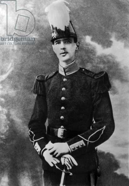 Young Charles de Gaulle (1890-1970) in 1912, at Saint Cyr military school