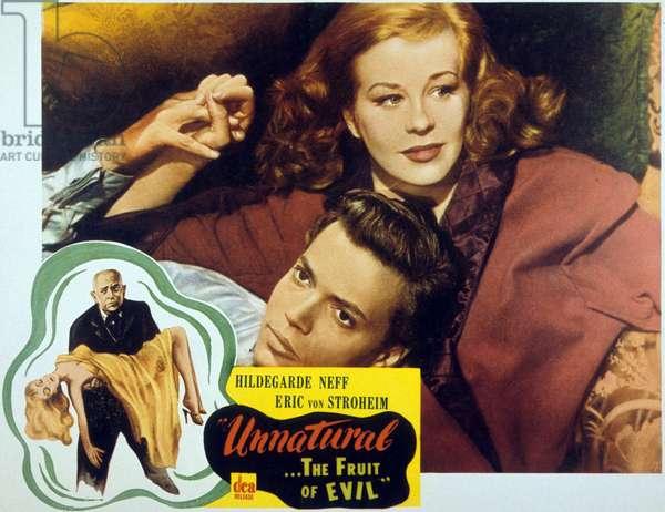 Unatural the fruit of the Evil (aka Alraune) de ArthurMariaRabenalt avec Erich von Stroheim et Hildegard Knef 1952