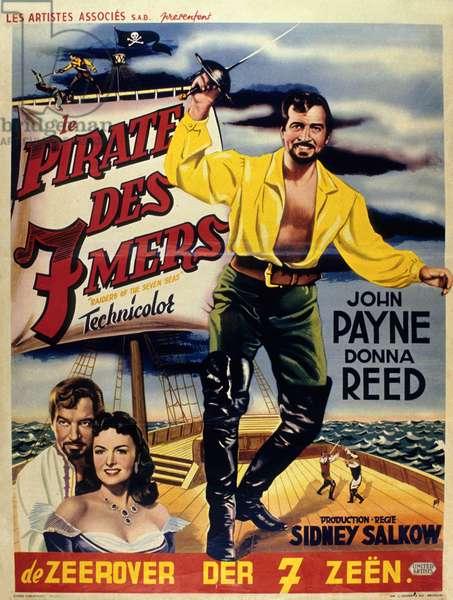 Le pirate des sept mers de SidneySalkow avec John Payne et Donna Reed 1953